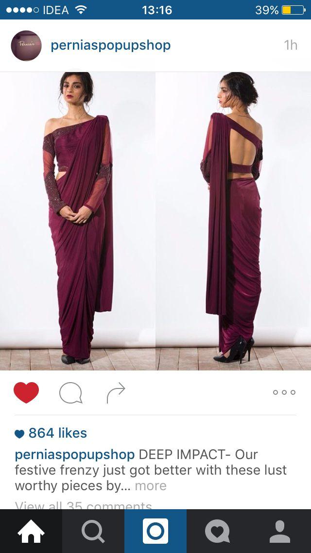 Indian Half Saree in wine colour