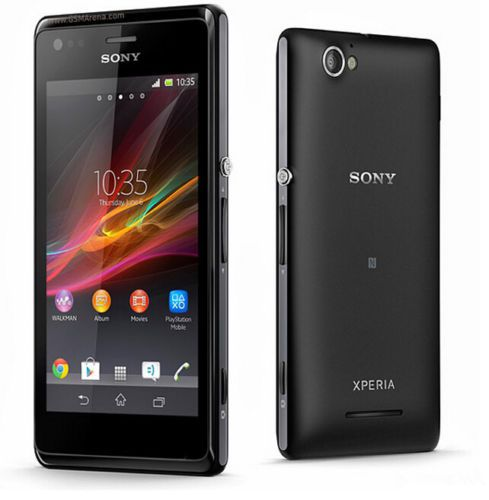 New-Unlocked-Original-Sony-Xperia-M-C1905-4GB-Smartphone-5MP-WIFI-Black