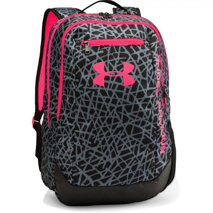 Sportovní batoh Under Armour Hustle černý růžový