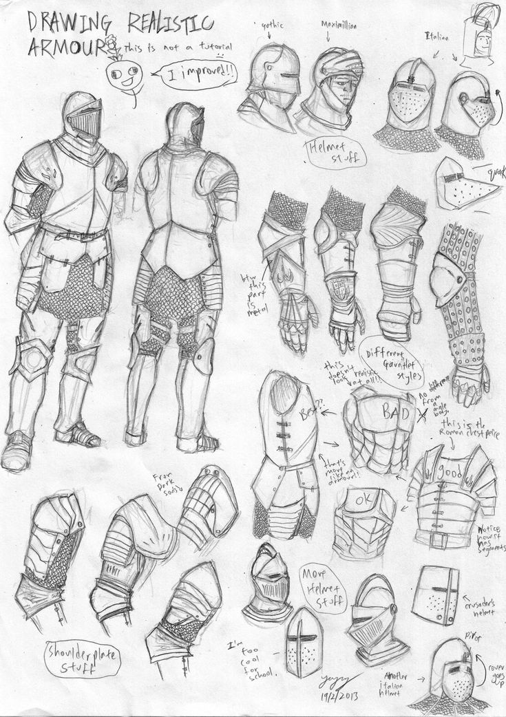 Medieval European Armour Sketch by Iron-sage