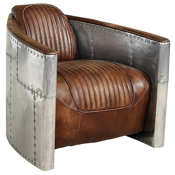 Aviator style armchair .... this is just pure genius!!!