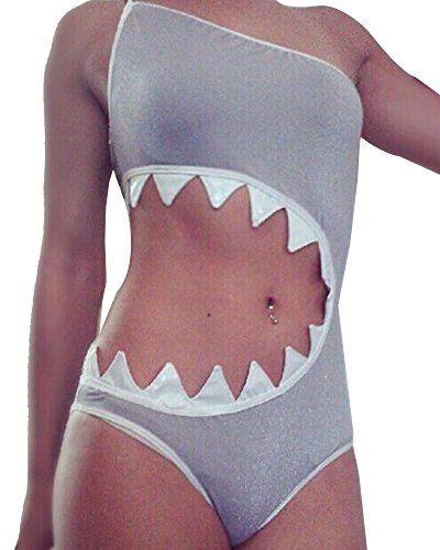 Hai Angriff Bikini Badeanzug   Alle Accessoires für dein Hai-Angriff-Kostüm findest du auf www.maskerix.com