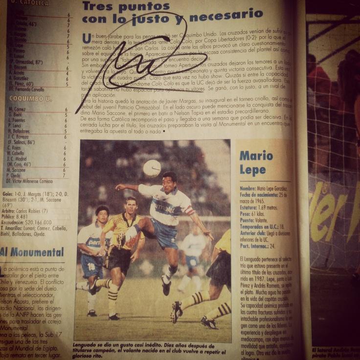 Autografo Don Mario Lepe. #LosCruzados