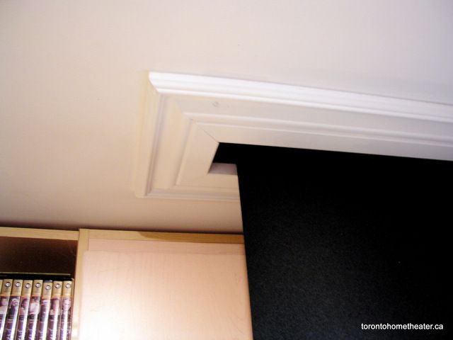 Trim for in-ceiling projector screen