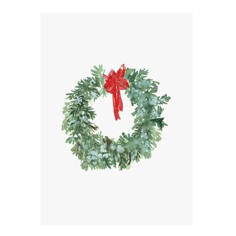 Christmas Wreath postcard by NUNUCO® #postcard #nunucodesign #christmas #holiday