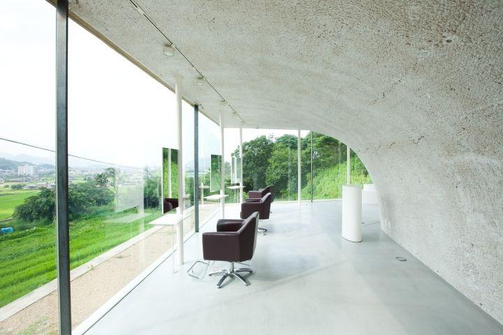 Hill top hair salon by keita nagata architectural element, Takamatsu – Japan