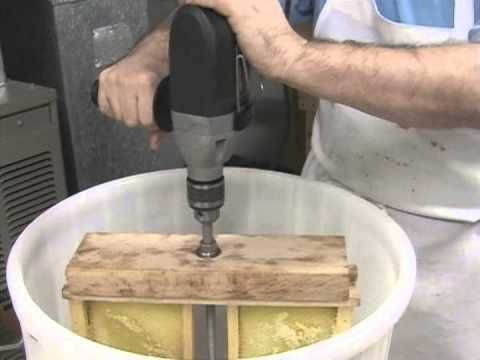 Make honey extractor similar to this, but angled.