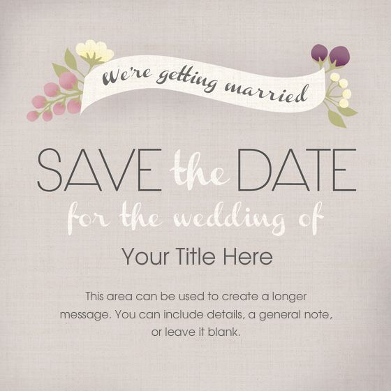 Create a save the date online