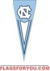 """North Carolina Tar Heels Yard Pennant 34"""" x 14"""""""