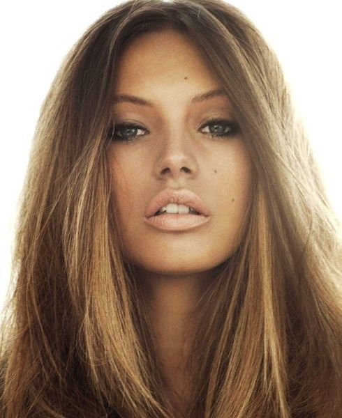 Love the hair color and bronzed glow. Good for olive skin hair color for olive skin tone FollowPics | iTweenFashion.com