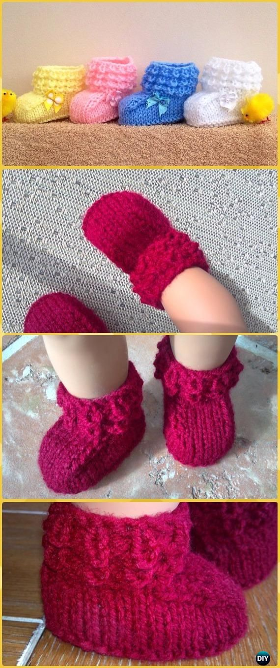 Knit Crocodilly Mocs Baby Booties Free Pattern - Knit Slippers Booties Free Patterns