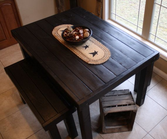 flashsale unique primtiques beautiful primitive black pub style tall kitchen table custom sizes colors available - Primitive Kitchen Tables