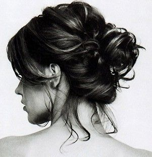 Love this messy bun....my favorite in the Southern summer
