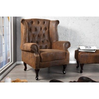 Chesterfield antik - brown armchair  #furniture #vintage #vintagecollections #homedecor #interiordesign #housegoals  #irenesworld #home