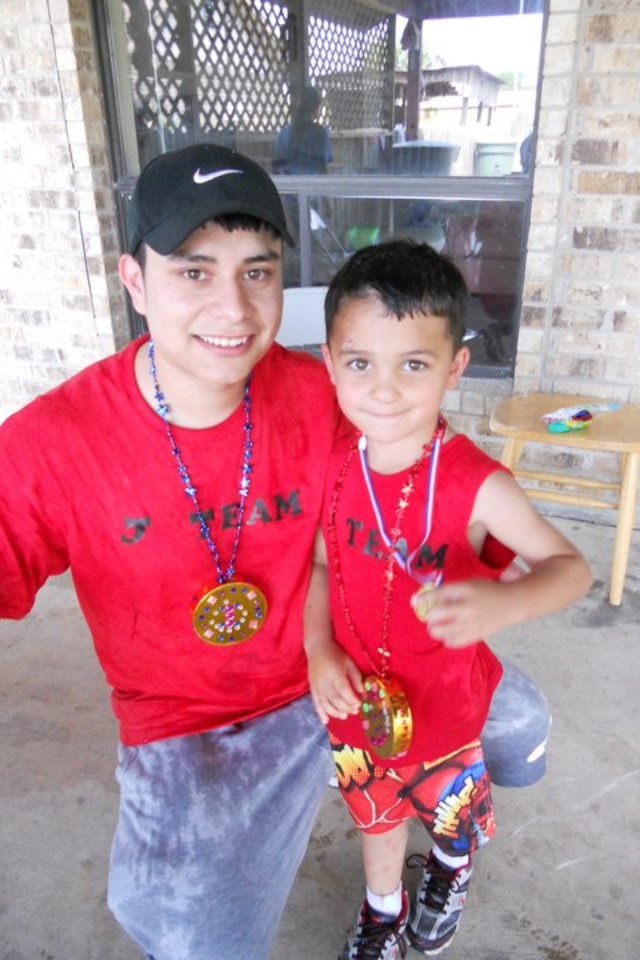 Old but our first father and son competition. Don't mind the medals ;)