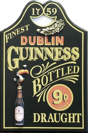 Guinness Bottle Draught Pub sign ~Repinned Via Janice Malott