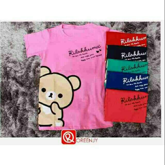 Saya menjual Kaos wanita / rilakuma tee / kaos lengan pendek / size Allsize seharga Rp40.000. Dapatkan produk ini hanya di Shopee! https://shopee.co.id/ssfashionkaos/664283536 #ShopeeID
