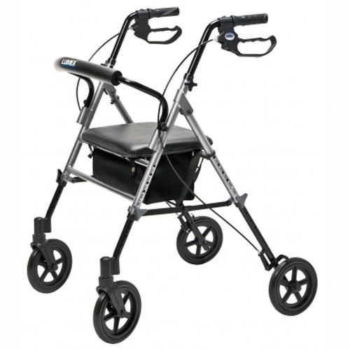 Lumex Set N Go Rollator Height Adjustable Simple