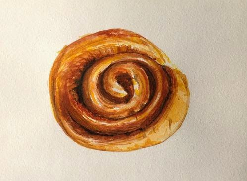 Drawing flash mob - pastry