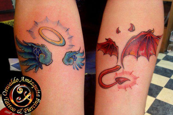 angel devil shoulder tattoo - photo #27