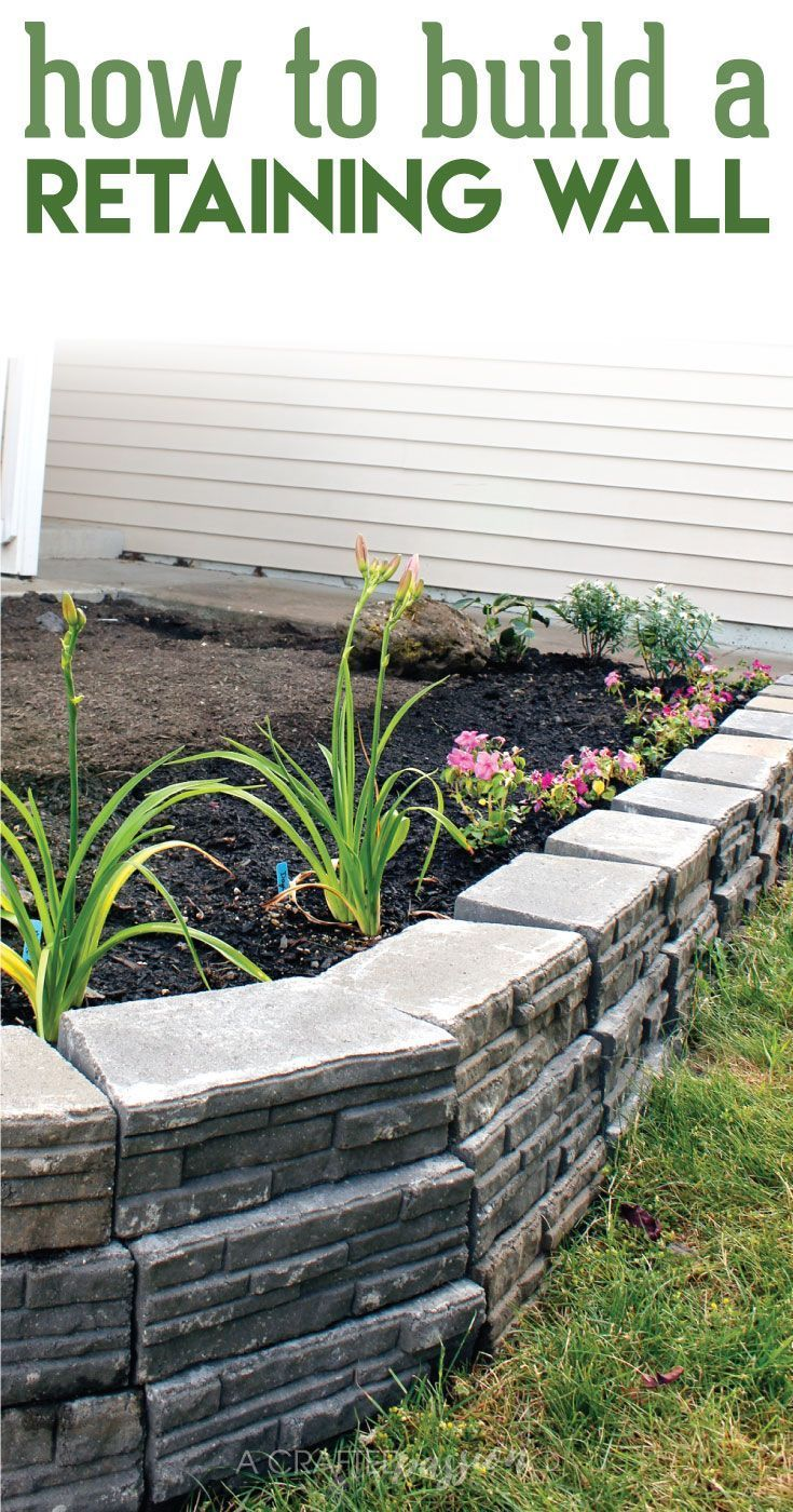 25 best ideas about diy retaining wall on pinterest - How to build a garden retaining wall ...