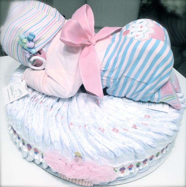 Delightful Diaper Baby Cake Perfect For A Baby Shower Gift, A Baby
