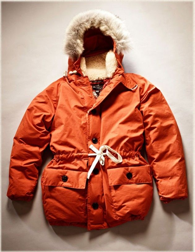 Nigel Cabourn's Everest parka is inspired by Sir Edmund Hillary's summit of Everest in 1953. Each pocket of down is filled and sealed by hand and with a temperature rating to -40° C, this is the Bentley.