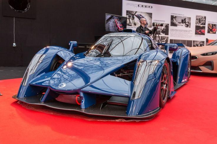 Ligier JSP4  vue avant bleue
