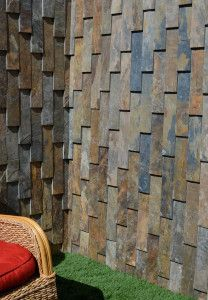 Stone cladding adds texture to a project.  See more at Horizon Tile, on Hi Line Drive, Dallas