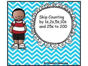 Many Math strategies rely on students to be able to jump by 5s and 10s.  This package can be used to count by 2s ,5s, 10s and 25s to 200.  You can separate the apples into groups of twenty and have the students skip count starting at various starting points. (scheduled via http://www.tailwindapp.com?utm_source=pinterest&utm_medium=twpin&utm_content=post141118417&utm_campaign=scheduler_attribution)