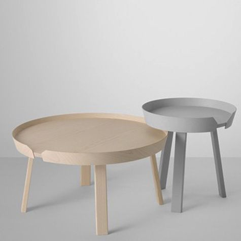 'Around' wooden coffee tables by Thomas Bentzen for MUUTO