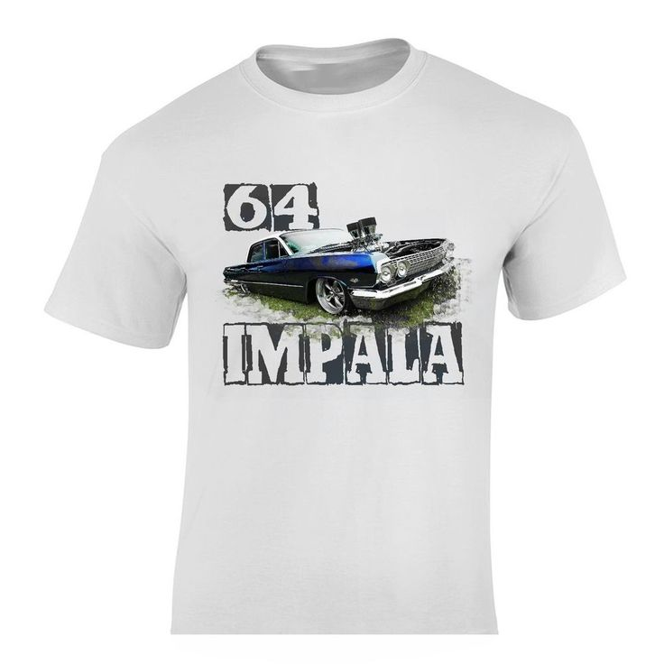 64 Chevy Impala NEW Muscle Car T-Shirt -  LOW RIDER TOP CLASSIC CLOTHING TEE