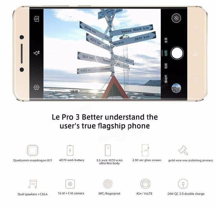 LeTV Leeco Le Pro 3 X727 5.5-inch 4GB RAM 64GB ROM Snapdragon 821 Quad-core 4G S