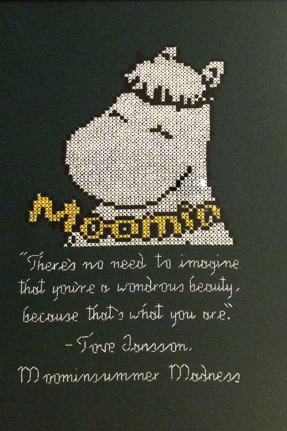 Moomin Cross Stitch Chart  Instant Download PDF  by ArtyMoments