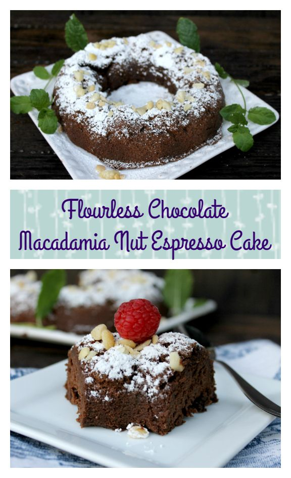 Do you love a great cup of coffee? How about a great dessert to go with it? You will love my decadently delicious Flourless Chocolate Macadamia Nut Espresso Cake.