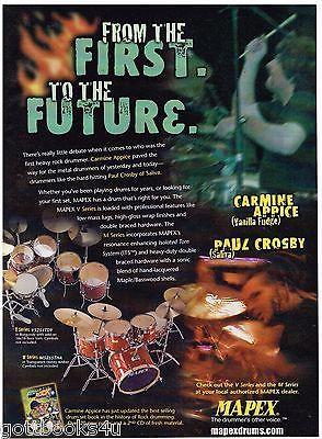 MAPEX Drums - Carmine Appice of Vanilla Fudge / Paul Crosby - 2002 Advertisement