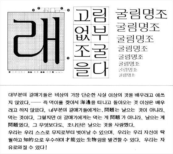 굴림명조체 by 김진평