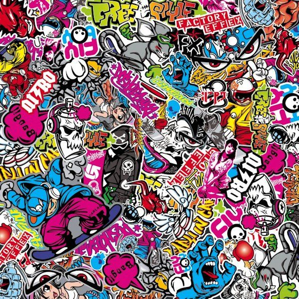 Sticker bomb sheet