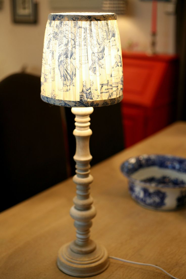 wooden table lamp with handmade shade, 350 PLN, 650 PLN/a pair