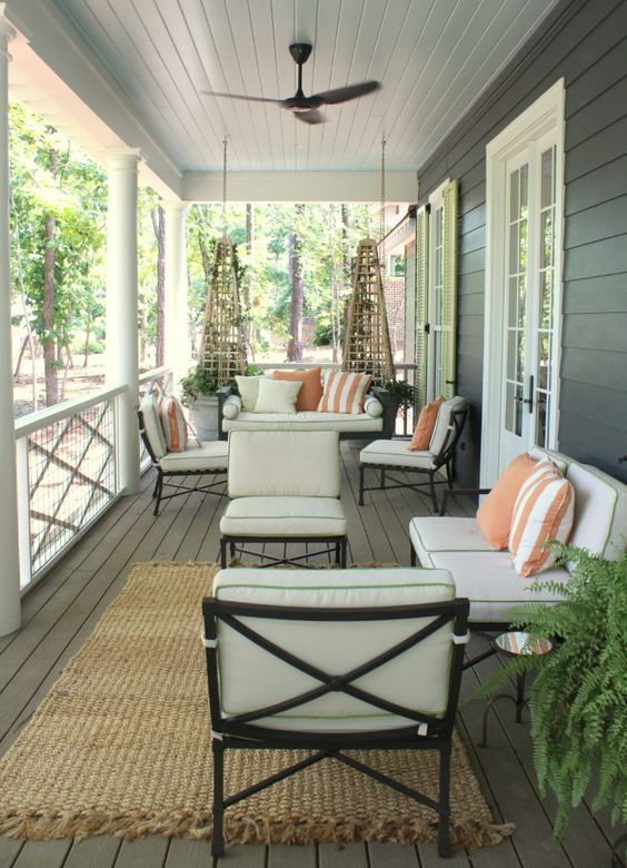 Southern Living Idea House Front Porch Covered Porch Decor In