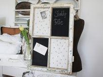Shabby Pinnwand Magnettafel altes Fenster *Erika*