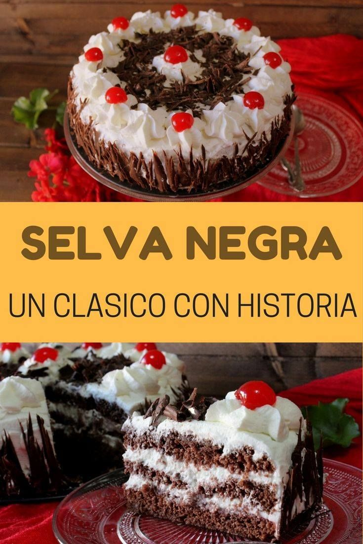 Tarta Selva Negra, receta sin horno...
