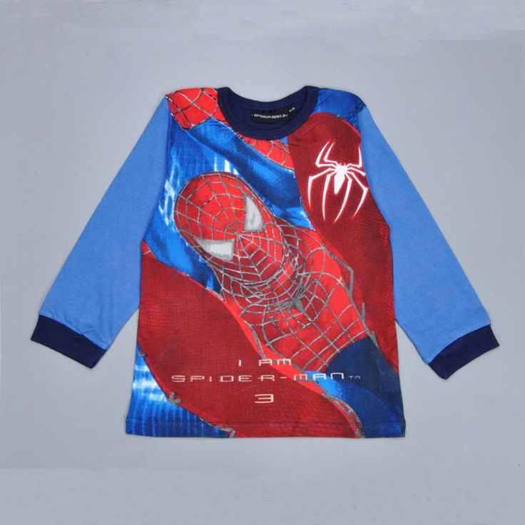 Spiderman boy T-shirt t shirt spring Autumn long sleeve Spider man kids boys tops tees Brand Girl Kids Leisure Children Clothes