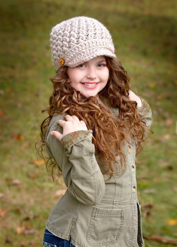Sombrero del ganchillo / sombrero de los niños / sombrero del vendedor de periódicos / gorro de ala ancha / primavera moda / sombrero de los cabritos
