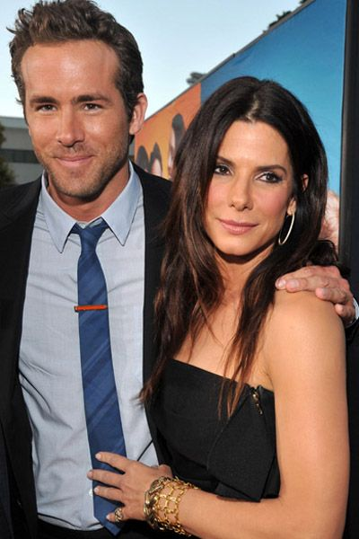Sandra Bullock surprises Ryan Reynolds at Change Up premiere