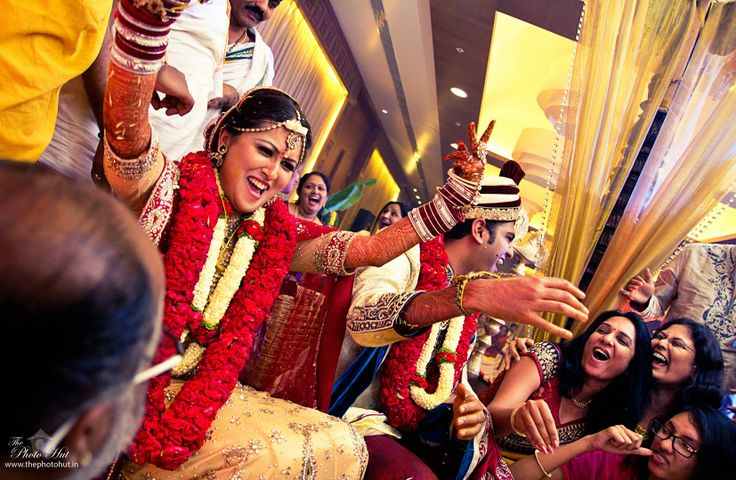 That's the happiness of a bride when she wins a wedding game - Weddings | Indian Wedding Photography, Pune
