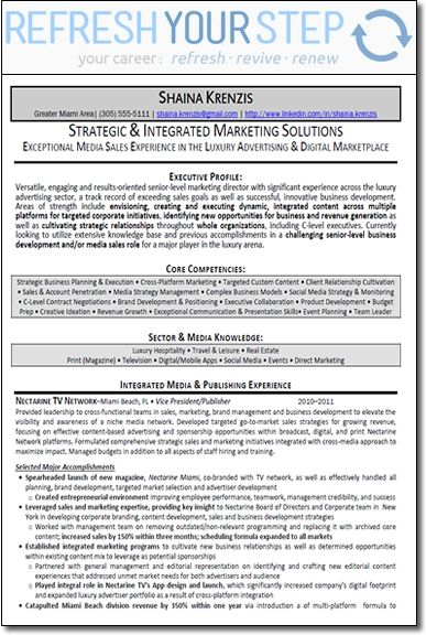 Marketing Director Resume | The Senior Marketing Director Resume Example contains: