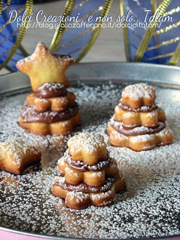 Biscotti Alberelli di frolla e Nutella - Dolci Creazioni..e non solo..tatam