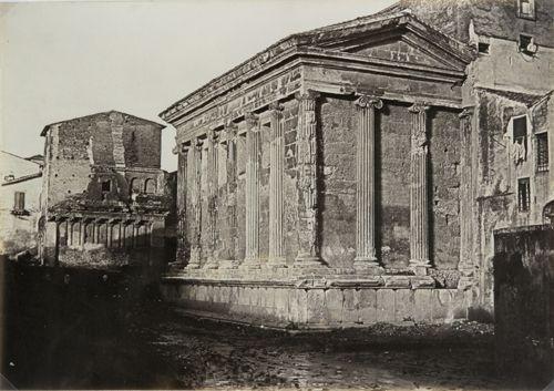 Fortuna Virilis temple. Rome 1860 (ca) Albumen print