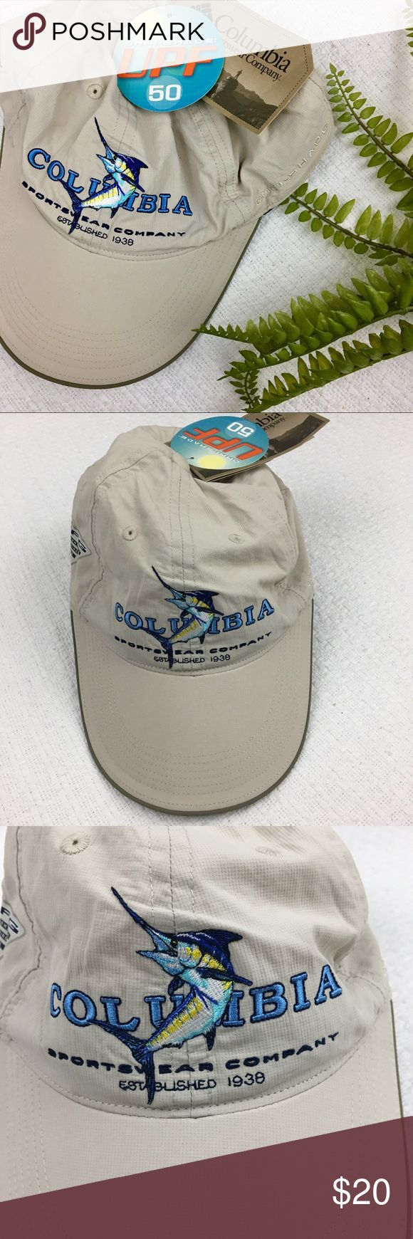 Columbia Omni-Shade Sportswear fishing PFG hat Columbia Omni-Shade Sportswear fishing hat UPF 50 Performance Fishing Gear Adjustable Velcro back It was stored next to a blue top and it brushed up against the left side. Pictured. Columbia Accessories Hats
